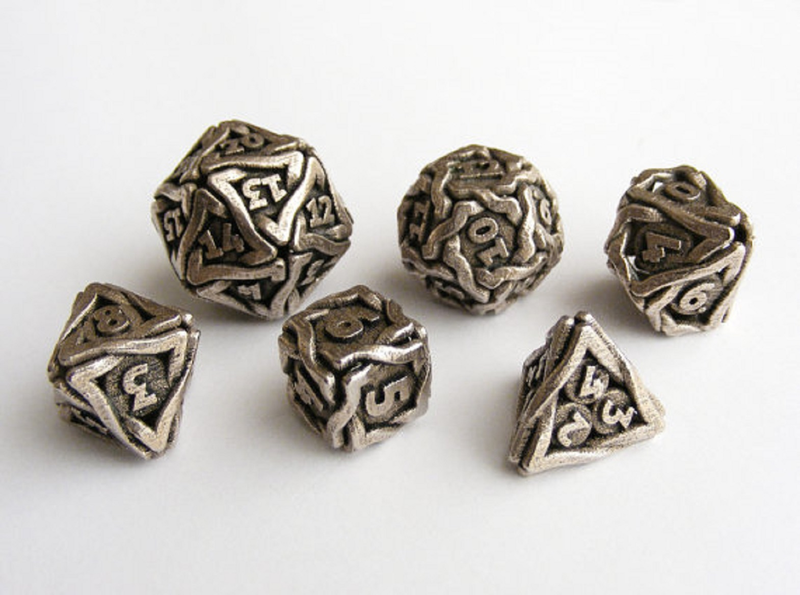 Set Of 7 Polyhedral Metal Dice Aged Mithral Norse Foundry Rpg Pathfinder Dwarven Bo Ta Ny Shop Or perhaps individual dice besides d20s in metals? set of 7 polyhedral metal dice aged mithral norse foundry rpg pathfinder dwarven bo ta ny shop